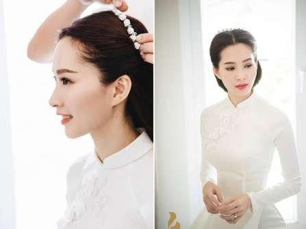 Các kiểu áo dài đẹp cho ngày cưới được hoa hậu Đặng Thu Thảo