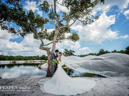 Ảnh cưới Hồ Cốc đẹp lãng mạn ở rừng và biển