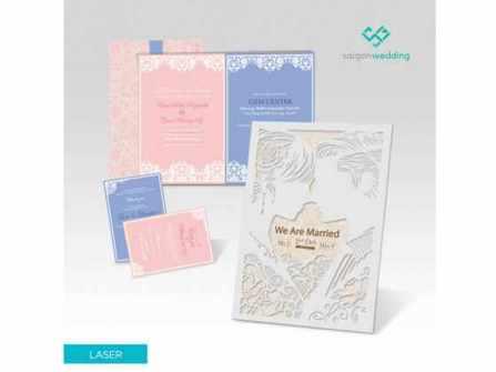 Saigon Wedding ưu đãi mùa cưới với thiệp thiết kế giảm giá 20%