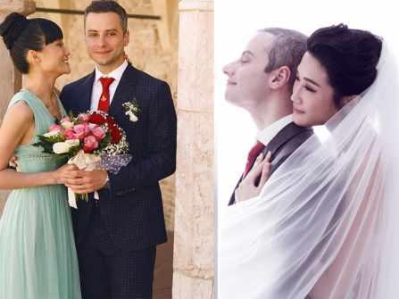 Bộ ảnh cưới Kha Mỹ Vân hạnh phúc rạng rỡ bên chồng Tây