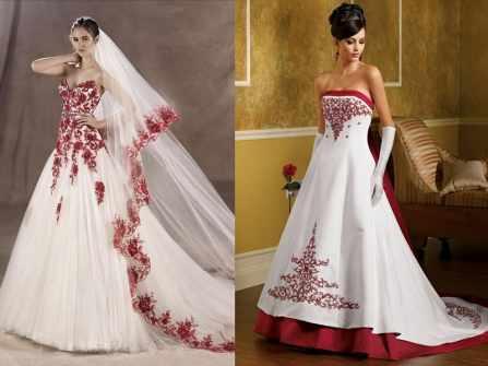 Gợi ý váy cưới tông trắng – đỏ cho cô dâu mùa Giáng sinh