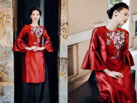 Có nên  mặc áo dài cưới cách tân trong tiệc cưới truyền thống?