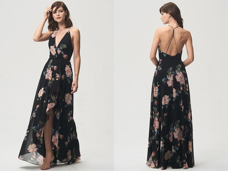 Váy phụ dâu Floral dài 4