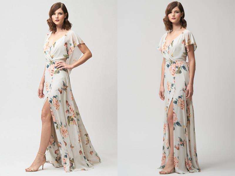 Váy phụ dâu Floral dài 3