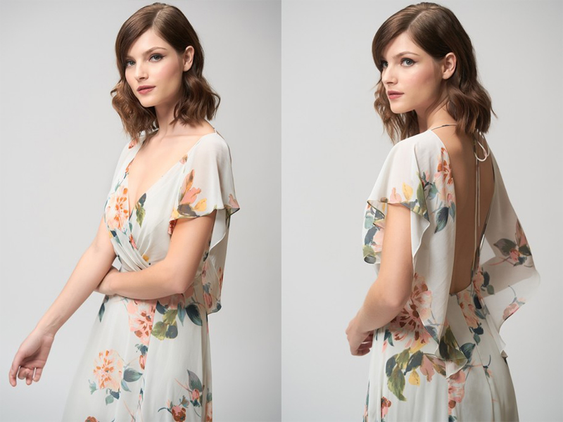 Váy phụ dâu Floral dài 2