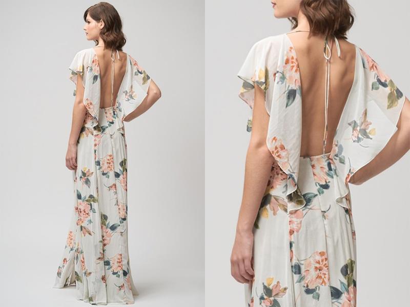 Váy phụ dâu Floral dài 1
