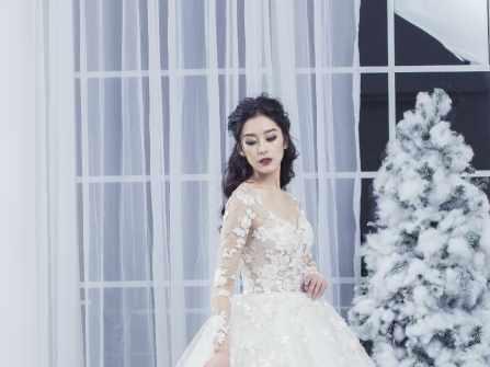 Váy cưới thêu tay phong cách tiểu thư kiêu sa - 1800$