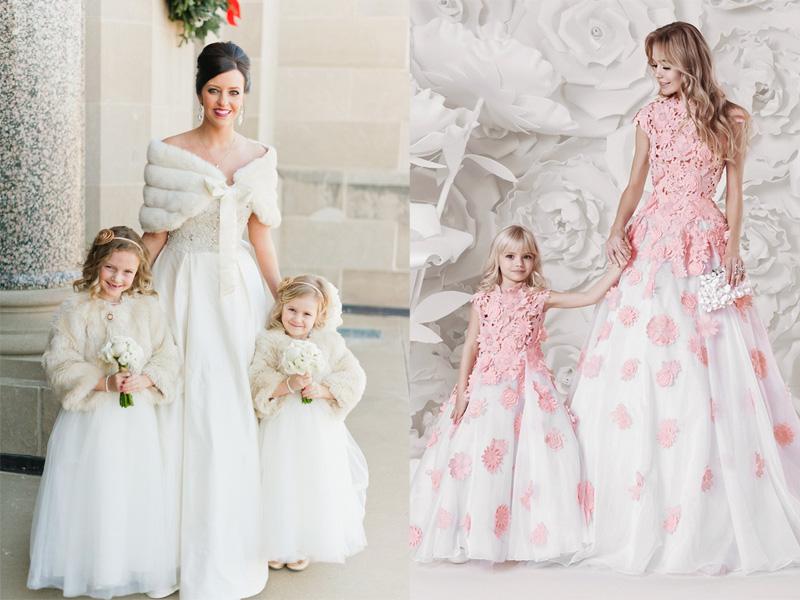 Váy phù dâu cho bé gái 8