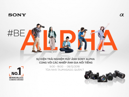 Sự Kiện Trải Nghiệm Máy Ảnh Sony Lớn Nhất Năm 2018