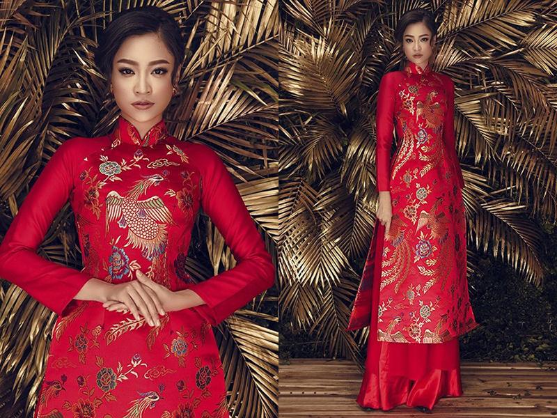 áo dài cưới đỏ 6