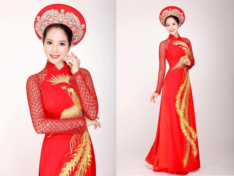 áo dài cưới đỏ 1