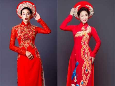 """""""Gục đổ"""" trước 12 mẫu áo dài cưới màu đỏ ấn tượng"""