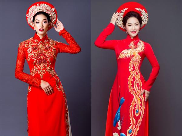 áo dài cưới đỏ 8