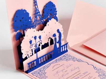 10 mẫu thiệp cưới 3D ấn tượng làm các vị khách không khỏi xuýt xoa