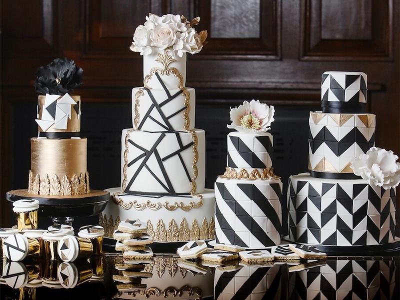 5 xu hướng trang trí bánh cưới mới nhất năm 2018