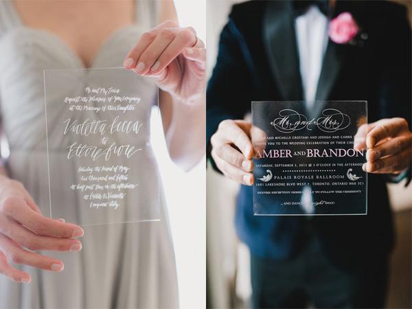 Thiệp cưới acrylic 5