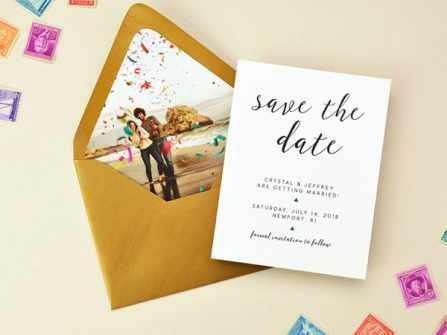 Thiệp save the date giống hay khác thiệp mời cưới?