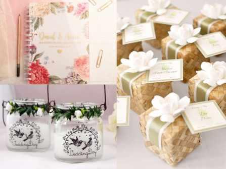 3 món quà đáp lễ ngày cưới thật xinh và ý nghĩa