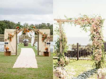 11 mẫu cổng hoa cưới đẹp như lối vào vườn địa đàng lãng mạn