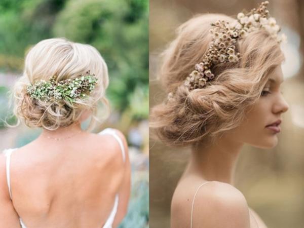 Các kiểu tóc búi rối cho cô dâu 5