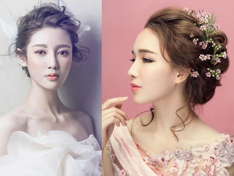 Các kiểu tóc búi rối cho cô dâu 4