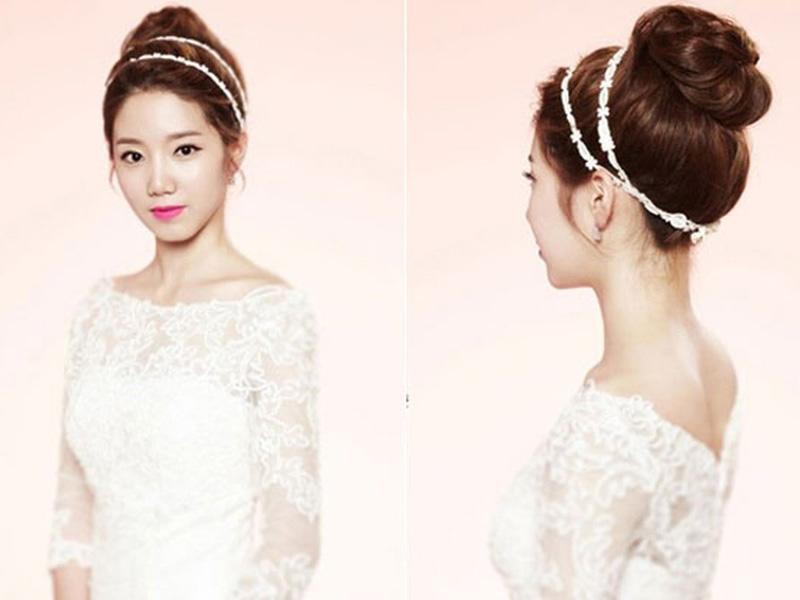 Các kiểu tóc búi rối cho cô dâu 3