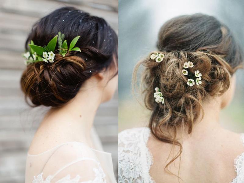 Các kiểu tóc búi rối cho cô dâu 1