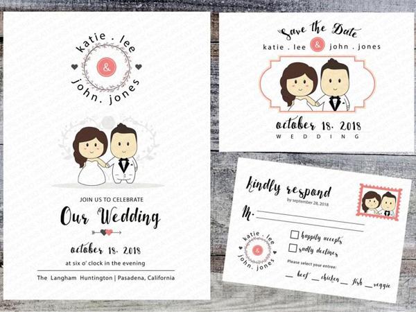 Thiệp cưới chibi 6