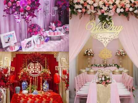 3 tông màu trang trí lễ đính hôn Việt đẹp nhất mọi thời đại