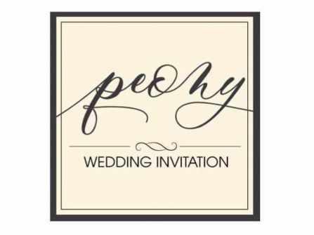 Thiệp cưới Peony