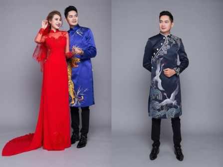 Top 13 mẫu áo dài nam dành cho chú rể hot nhất năm nay