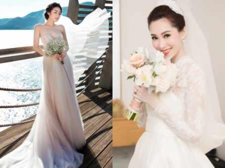 """Những chiếc váy cưới """"đắt xắt ra miếng"""" của dàn mỹ nhân Việt"""