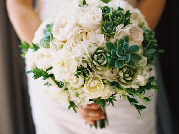 Hoa cưới sen đá 9