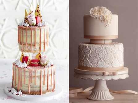 Cách trang trí bánh kem cưới 2 tầng rời ngon phát thèm