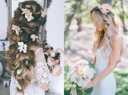 Tóc cưới và hoa tươi: Sự kết hợp ngọt ngào cho mùa cưới 2019