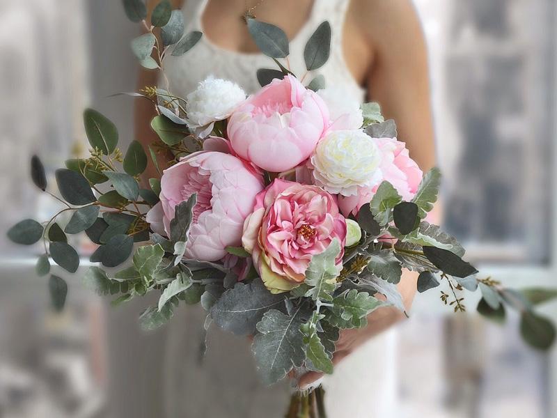 Hoa cưới mẫu đơn 2