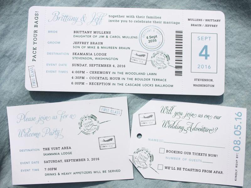thiệp cưới vé máy bay 2