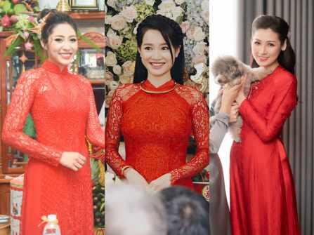 4 mỹ nhân diện áo dài cưới màu đỏ đẹp nhất showbiz Việt