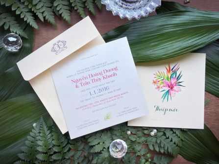 Cần in những thông tin gì trên thiệp cưới?