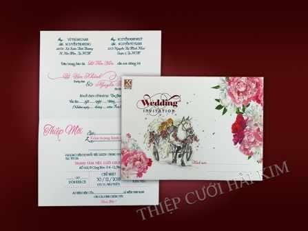 DỊch vụ thiết kế - in ấn thiệp cưới; Giá cạnh tranh, mẫu mã đa dạng