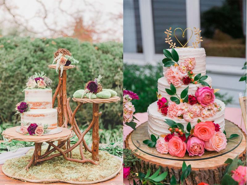 bánh cưới hoa tươi nhiều tầng 9