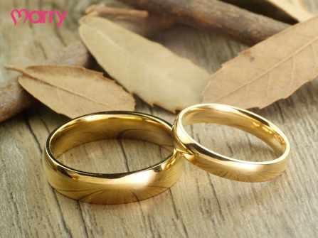 Xu hướng nhẫn cưới trơn đơn giản, sang trọng 2019