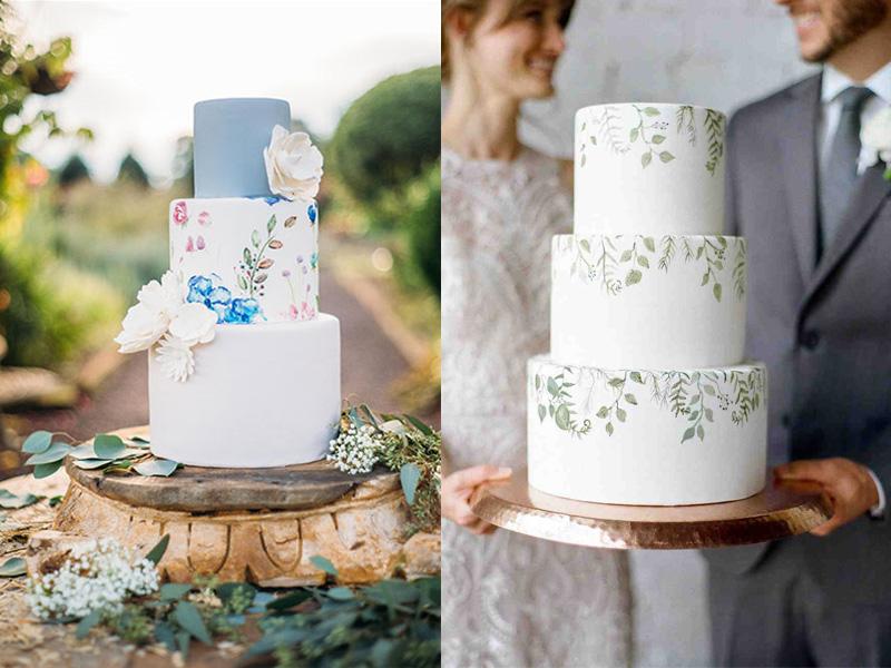 mẫu bánh cưới vẽ tay 8