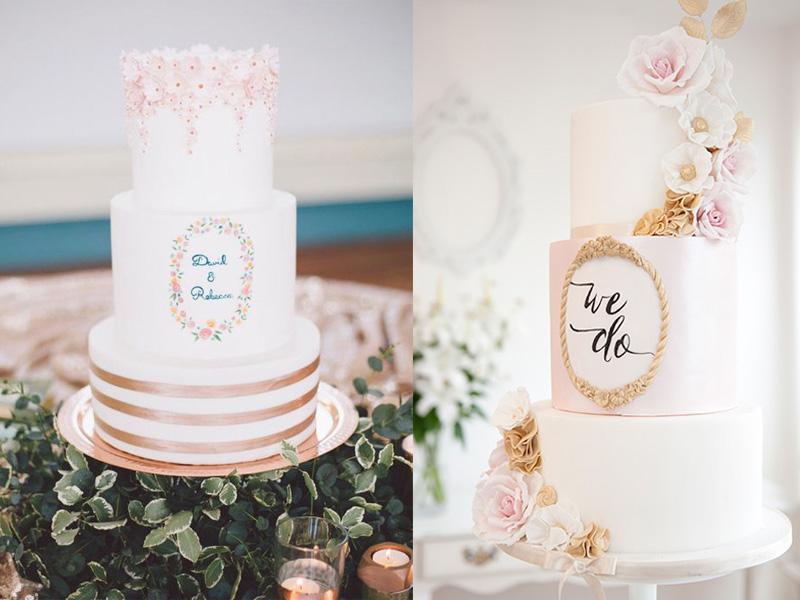 bánh cưới phong cách Calligraphy 3
