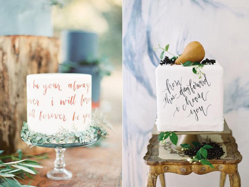 bánh cưới phong cách Calligraphy 4
