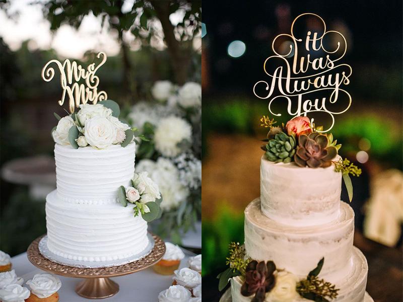 bánh cưới phong cách Calligraphy 5