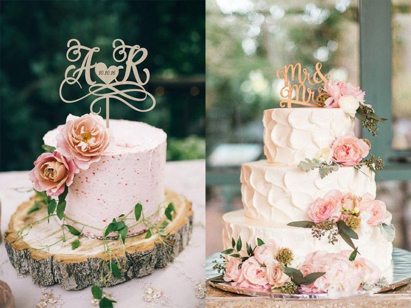 bánh cưới phong cách Calligraphy 6
