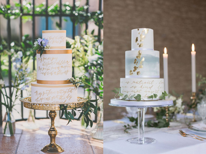 bánh cưới phong cách Calligraphy 8