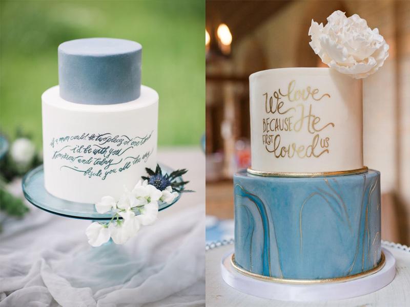 bánh cưới phong cách Calligraphy 9
