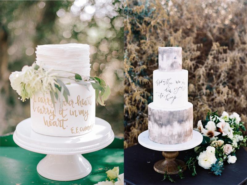 bánh cưới phong cách Calligraphy 10
